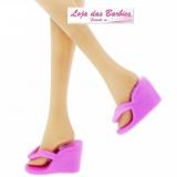 aaabd6011a Chinelinho Para Barbie   Modelo  Anabela  (Rosa Chiclete)