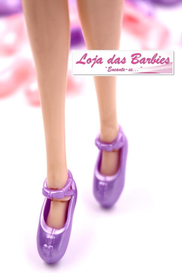 0878586296  KIT PROMOCIONAL  2 Pares De SAPATILHAS De Ballet Para Barbie (Modelo Meia-