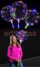 Balão Bubble e LEDs coloridos, kit Completo Já Montado, com Pilhas e Pronto para Uso