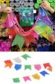 Varal Bandeirolas de Plástico Colorido (já vem pronto, é só esticar o varal com 10 metros de comprimento).