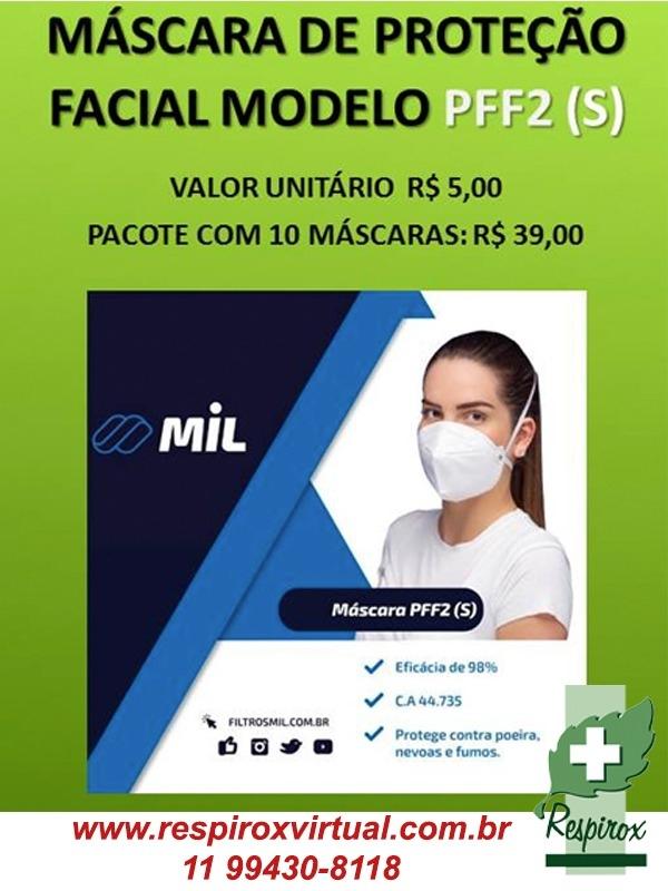 CAIXA COM 240 MÁSCARAS PFF2