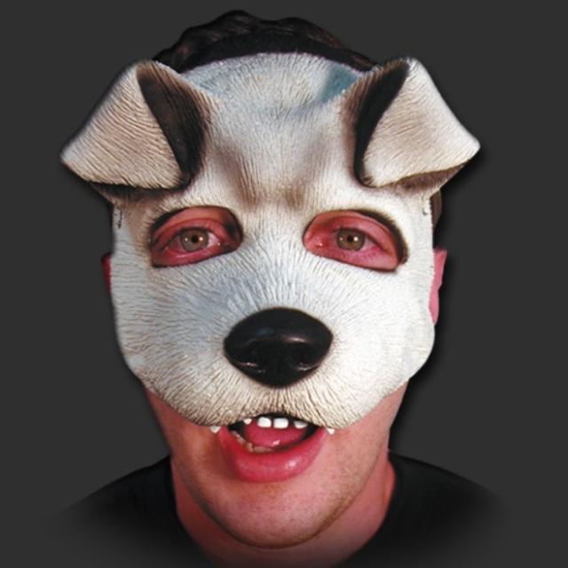 Máscara Cachorro Branquinho