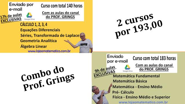 Combo 2 cursos enviados por e-mail de 172h e 140h