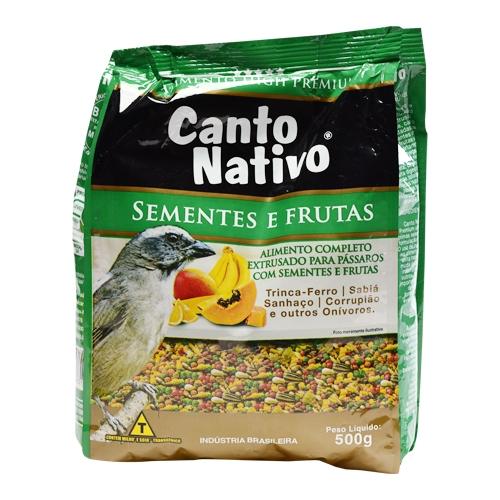 Canto Nativo Com Sementes e Frutas 500g ( Picharro,Corrupião e Sabiás)