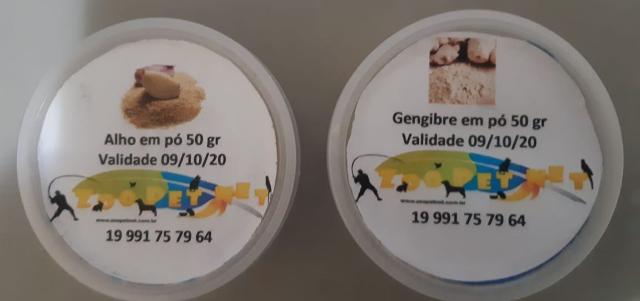 ALHO e GENGIBRE EM PÓ - 50GR