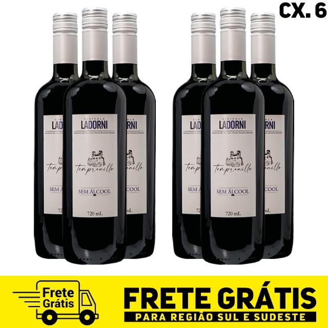 Caixa com 6 unidades - La Dorni Tempranillo sem álcool 720 ml