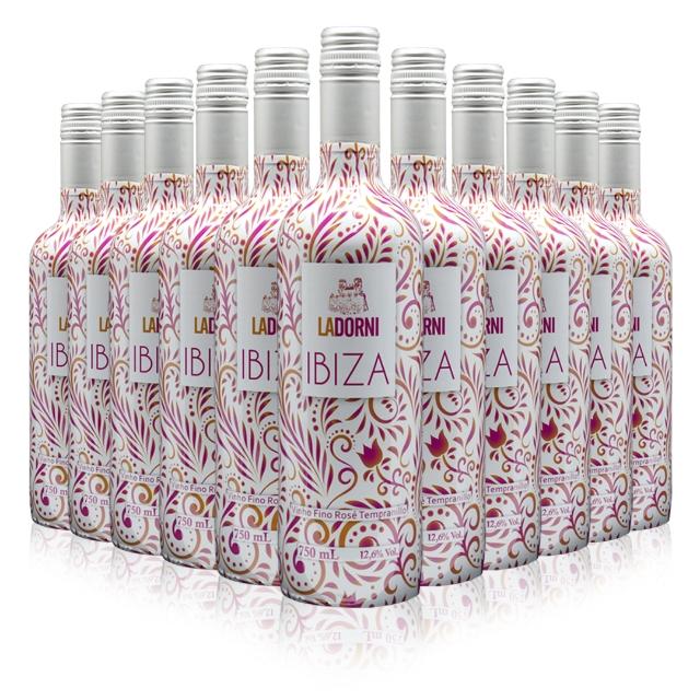 Caixa com 12 unidades do - Ibiza Rosé Tempranillo 750 mL