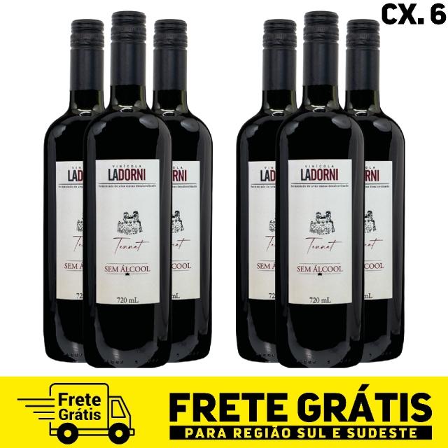 Caixa com 6 unidades - La Dorni Tannat sem álcool 720 ml