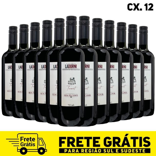 Caixa com 12 unidades - La Dorni Tannat sem álcool 720 ml
