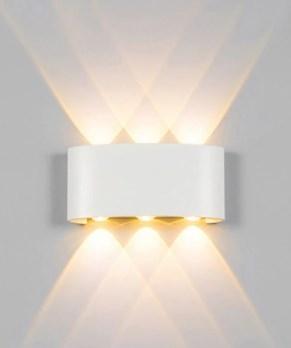 Arandela LED 18W Facho Duplo 6 LEDs Bivolt Branco Quente 3000K