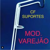 SUPORTE P/ VARA CF REFORÇADO VAREJÃO PRATEADO