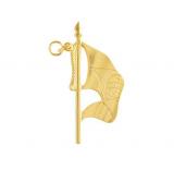 Joia Porta Bandeira Dourada