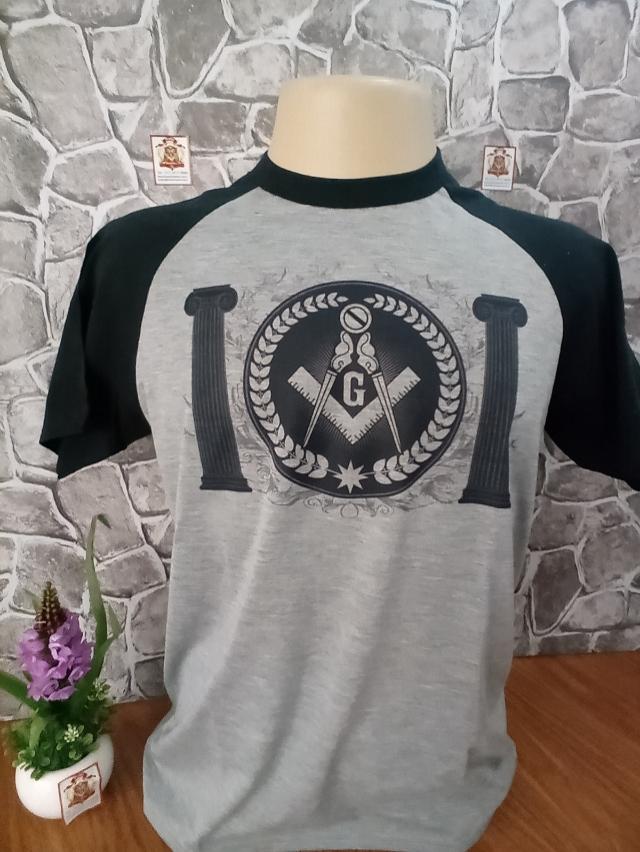 Camisa Raglan Mescla Maçonaria 01