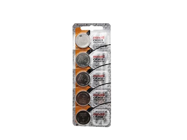 5 Baterias Pilha Maxell Cr2025 Bateria Relógio Original