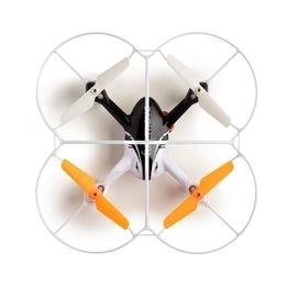 Drone Multilaser Fun Move Controle remoto com sensor de movimento Alcance de 30m Bateria 7 minutos Flips em 360° Branco/Laranja - ES254