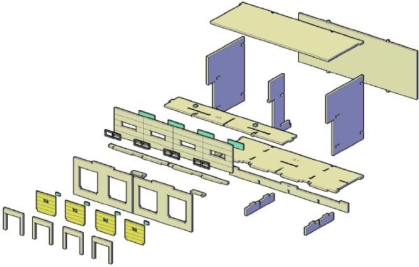 Docas de carga satandard 4 docas escala HO