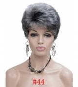Peruca Curta Feminina Grisalha Branca Cor #44 Moderna