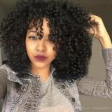 Peruca Afro Preta Crespa Cacheada Kinky Parece Cabelo Natura