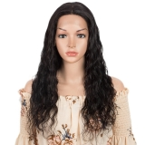 Lace Front Wig 4x4 Ondulada 100% Cabelos Humanos Remy Brasileiros Preta 60cm Késia