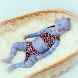 Lindo Bebê Reborn Avatar Corpo De Silicone Brilha No Escuro