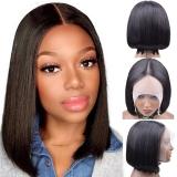 Linda Lace Front Wig Tela 13x4 + Parte Central em T Uso Diário Bob 35cm 100% Cabelos Humanos