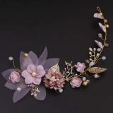 Acessório Tiara Para Cabelos Noivas, Madrinhas Festas de Casamento, Formatura Flores Lilás