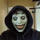 Máscara Látex Adulto Fantasia Cosplay Halloween Terror Globo Ocular Branco