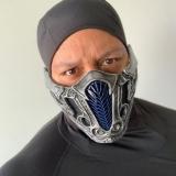 Máscara PVC Adulto Personagens do Video Game e Cinema Sub Zero Mortal Combate