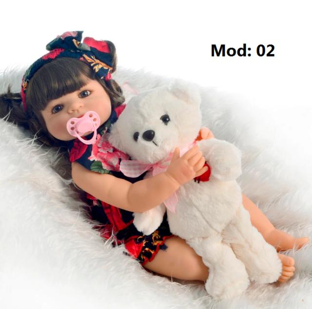 Bebê Reborn em Silicone 4 modelos com Frete Grátis
