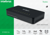 Switch 8 portas Fast Ethernet sf-800 Intelbras