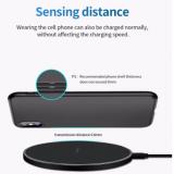 Carregador 20W s/ fio para iPhone 11 12 x xr xs max 8 rápido Wirless Carregamento Samsung Xiaomi Huawei telefone carregador sem fio