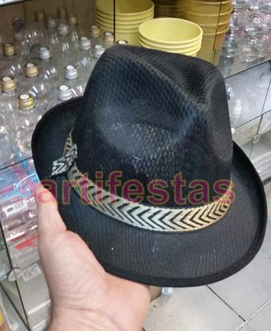 95815367e4e4d Chapéu Panamá Gafieira Malandro Samba Moda Carioca COR PRETO un por ...