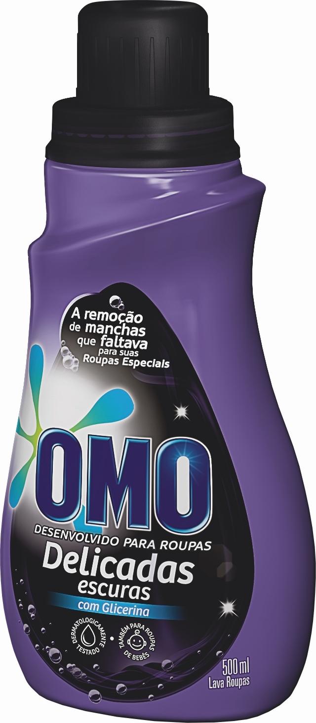 cb08cecd3 ... (Código 00038) Detergente Líquido Lava Roupas Escuras OMO com Glicerina  (500mL)