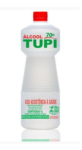 eedf6ff8e ... (Código 04468) Álcool Líquido Etílico Hidratado Antisséptico TUPI 70º  INPM (1L)
