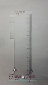 Régua Marca Paginas para wire-o - 14 cm - 10 unidade