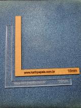 Esquadro (régua L) 15 mm Acrílico