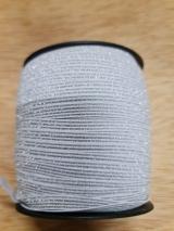 Elástico BRILHO Branco/prata - 5m