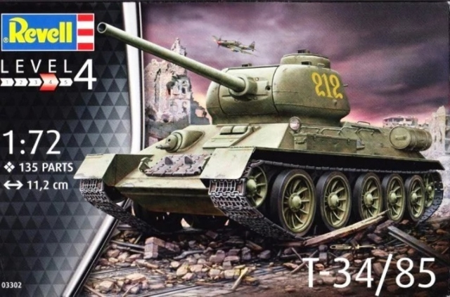 Tanque T-34/85 1:72 # 03302 - REVELL