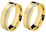 Aliança ouro 18K bodas 5,2 mm Normandia ( Par )
