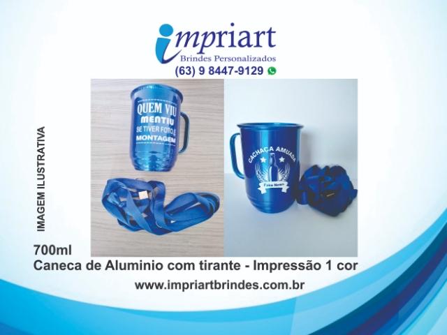 CANECA DE ALUMÍNIO COM TIRANTE