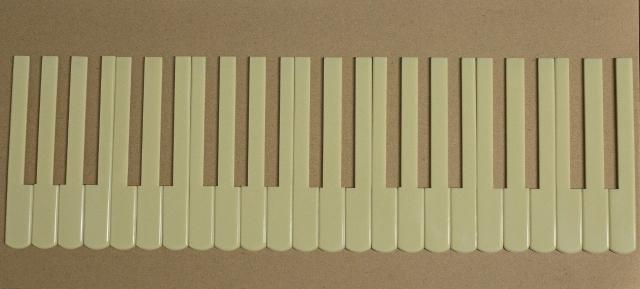 Jogo de Teclas Marfim 19,8 mm c/ recorte (24 teclas) - Nacional Cód.512