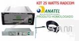 Kit Transmissor 25 Watts com Antena Dipolo