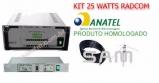 Kit T-25 Watts  Radcom com Antena Plano Terra