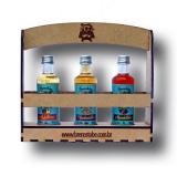 Kit para Presente com 03 Licores Finos de Amêndoas Mandellikör, Licor de Maçã Apfelkorn e Licor de Avelã HaselnussLikör 50 ml Brennstube