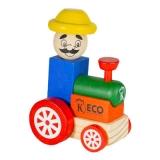 Brinquedo Educativo Tratorzinho em Madeira Keco (Cód. 202)