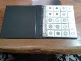 (A2.5) Album Médio P/ 200 Moedas/Coins Holder Couro Eco. 04 Argolas