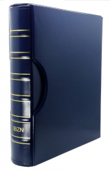 Álbum Super Luxo Azul GRANDE CAPA+ESTOJO 3BZN Vazio Para Folhas 32x24cm