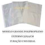 Kit 10 Folhas Grande Cédula POLIPROPILENO 1 Divisão 32x24cm Collecione