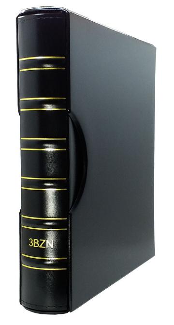 Álbum Super Luxo Preto GRANDE CAPA+ESTOJO 3BZN Vazio Para Folhas 32x24cm