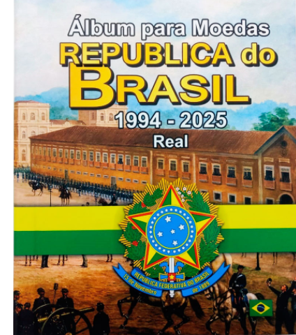 Álbum Moedas Plano Real 1994 - 2025